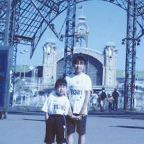 チェコのマラソン大会でお姉さんと。