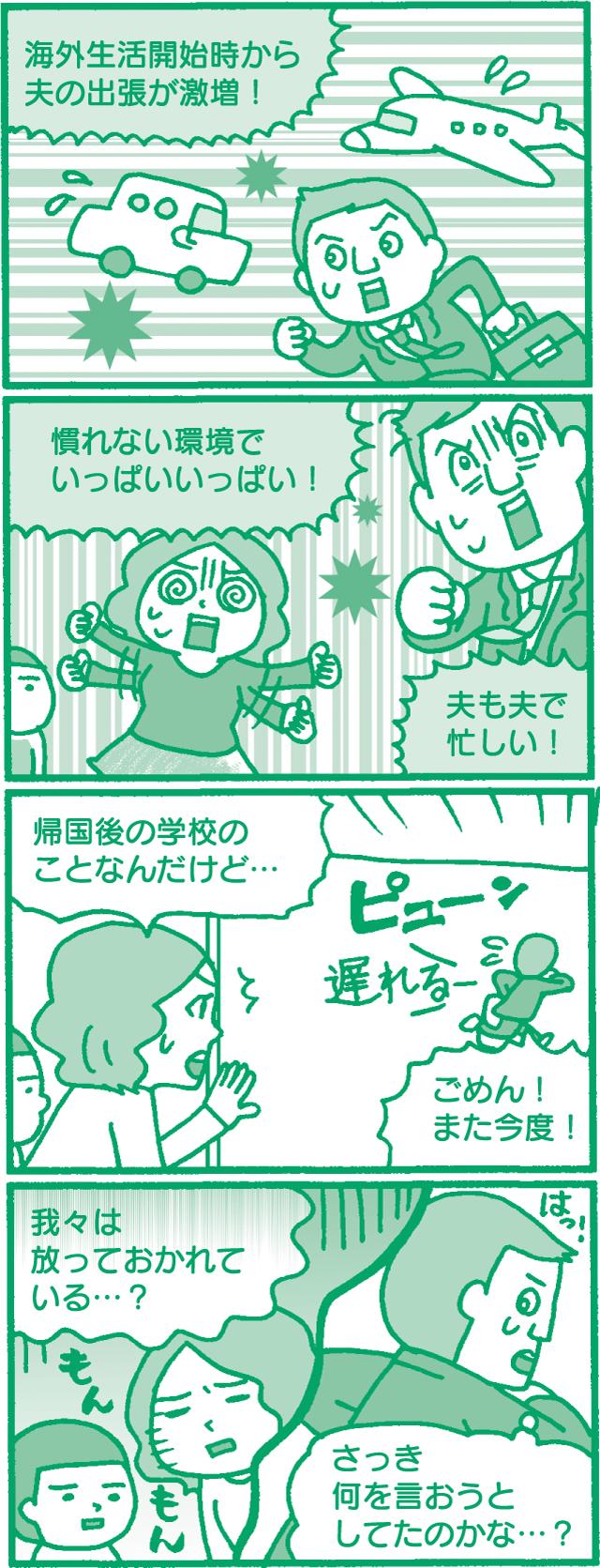 日本にいたときよりも、夫婦関係がギクシャク