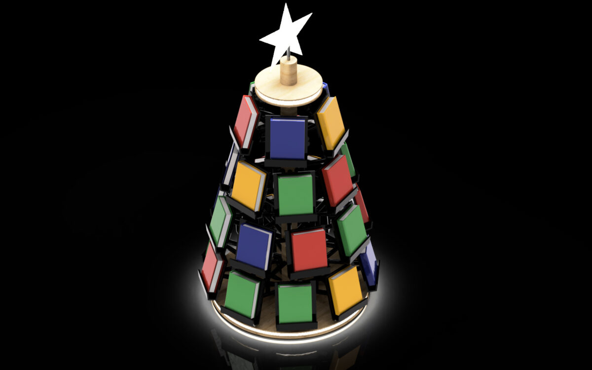 クリスマスツリー型本立て